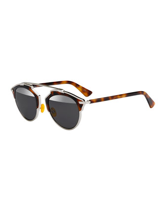 So Real Brow Bar Sunglasses, Brown