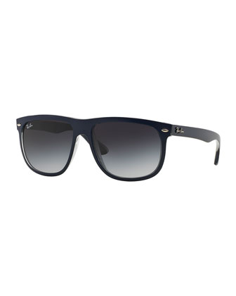 Rectangular Wrap Sunglasses, Blue