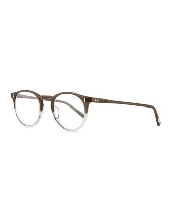 O'Malley Round Fashion Glasses, Gray Fade