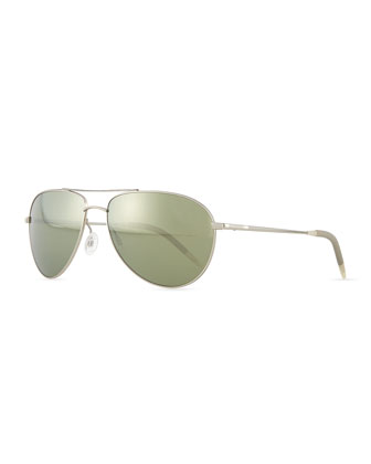 Benedict Mirror Aviator Sunglasses