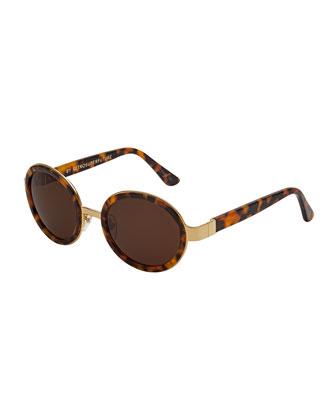 Santa Round Sunglasses, Tortoise