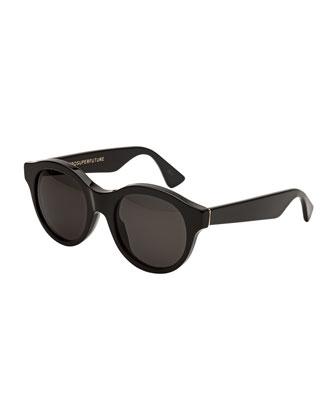 Mona Round Sunglasses, Black