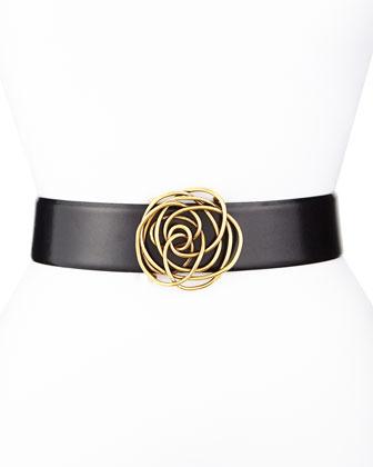 Swirl Rose Ornament Belt
