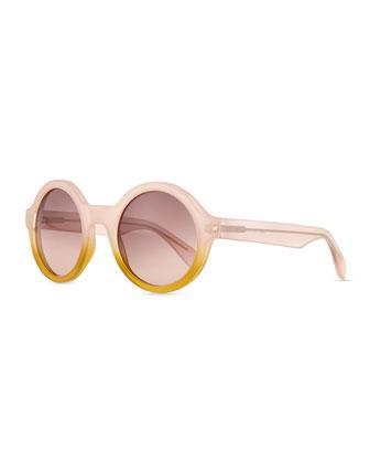 Round Bicolor Sunglasses