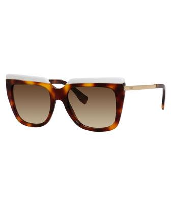 Galassia Contrast Square Sunglasses