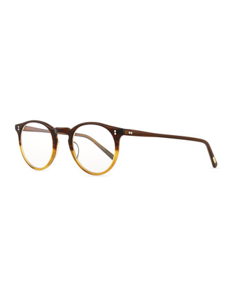 O'Malley Round Fashion Glasses, Tortoise Fade