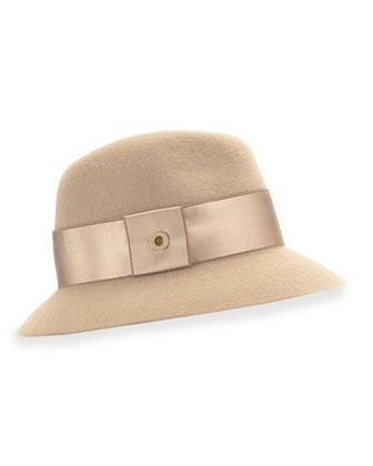 Ingrid Cashmere Felt Hat, Golden Shade