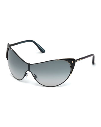 T-Temple Shield Sunglasses
