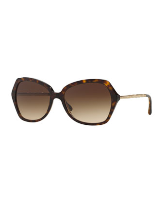 Butterfly Universal-Fit Twist-Temple Sunglasses