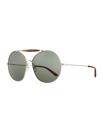 Mask Round Sunglasses, Light Golden
