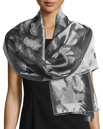 Floral Fil Coupe Scarf