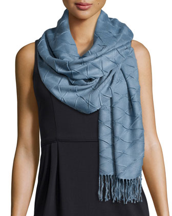 Diamond-Plisse Scarf