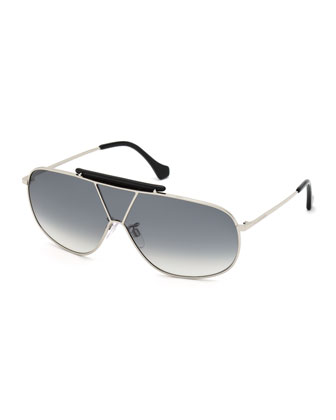 Metal Shield Bar Sunglasses