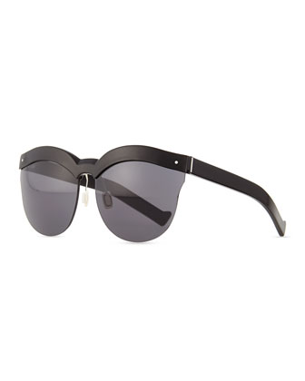 Autobahn Rimless Sunglasses, Black