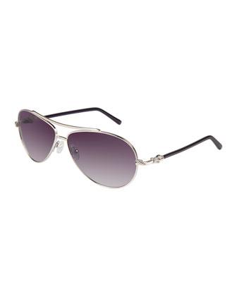 Buckle Aviator Sunglasses