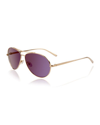 Waverly Polarized Metal Aviator Sunglasses