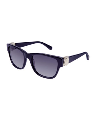 Albion Square Universal-Fit Sunglasses w/ Diamond Pav??, Navy