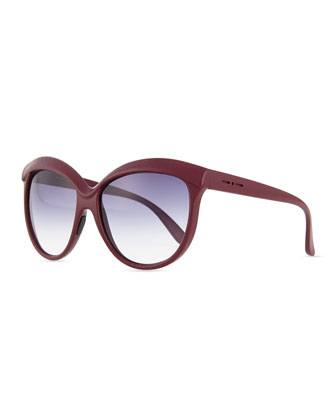 Leather-Enhanced-Brow Sunglasses