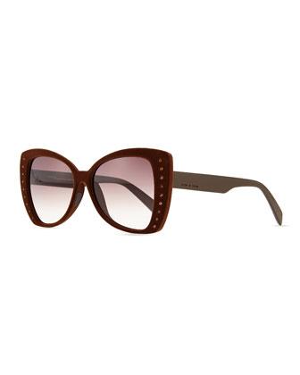 I-Lux Velvet-texture Crystal Sunglasses