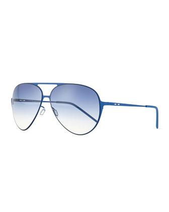 I-Metal Mirrored Aviator Sunglasses