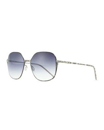 I-Metal Lightweight Oval Sunglasses