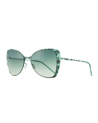 I-Metal Lightweight Butterfly Sunglasses