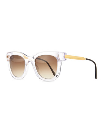 Transparent Cat-Eye Sunglasses