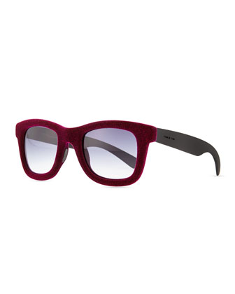 Velvet Textured Square Sunglasses