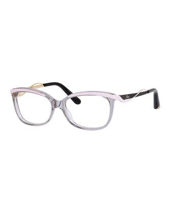 Wavy-Bar Fashion Glasses