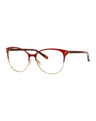 Semi-Rimless Fashion Glasses