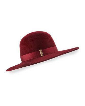 Kyleigh Hand-Blocked Wide-Brim Hat
