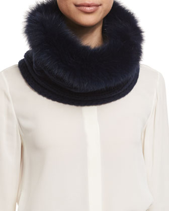 Cashmere-Lined Fox-Fur Collar