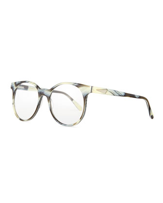 London Acetate Fashion Glasses, Zebra Horn