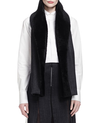 Metallic Brocade Short Jacket, Origami-Collar Poplin Blouse, Pieced ...
