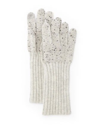Catherine Speckle Knit Cashmere Gloves