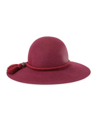 Felted Rabbit Hat w/Tassel