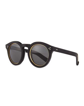 Leonard II Sunglasses, Black/Gold