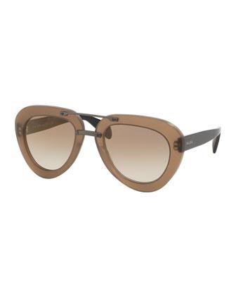 Chunky-Rim Aviator Sunglasses