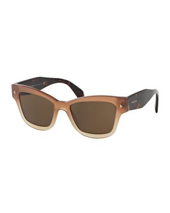 Gradient Square Plastic Sunglasses
