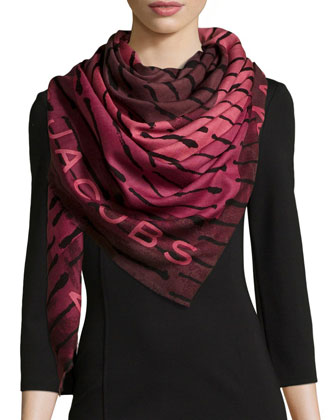 Bolt Stripe Concentric Square Scarf
