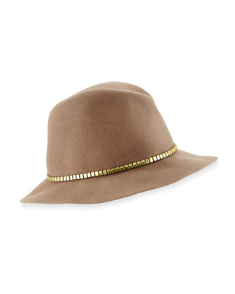 Cobblestone Felt Hat, Stone