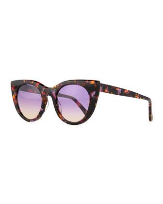 Angel Flared-Temple Sunglasses