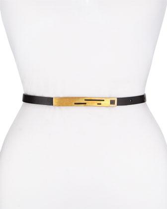 Leather Belt w/Laser-Cut Buckle