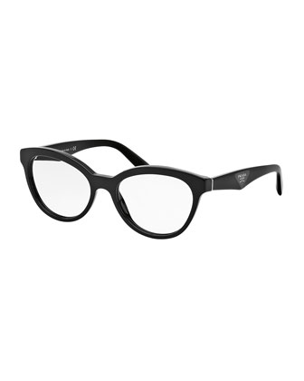 Cat-Eye Contrast-Arm Fashion Glasses