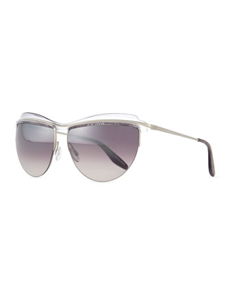 Christian Roth The Affair Sunglasses, Gray Snake
