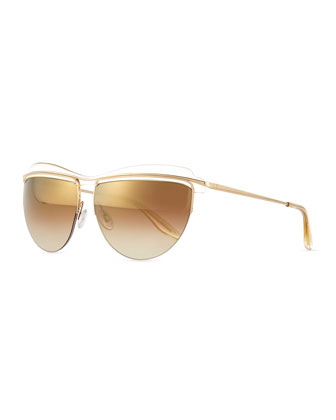 Christian Roth The Affair Sunglasses, Champagne