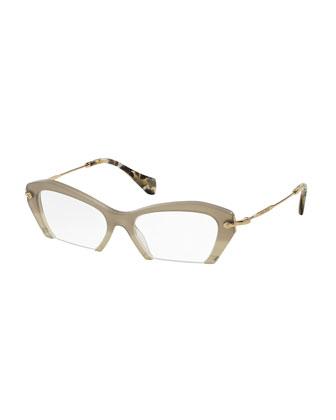 Cut-Off Cat-Eye Fashion Glasses