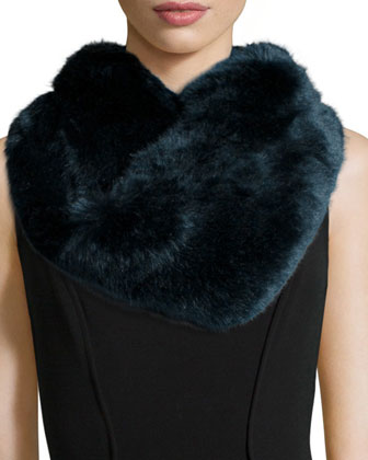 Faux-Fur Infinity Scarf, Blue