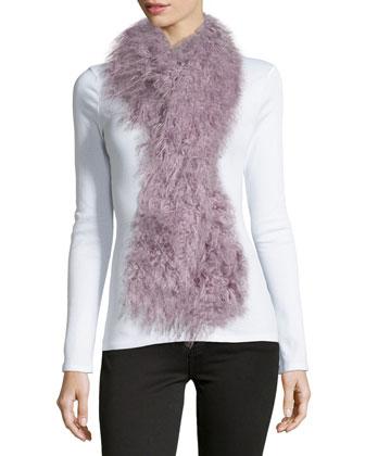 Faux Tibetan Lamb Fur Scarf