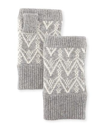 Fair Isle Cashmere Fingerless Gloves